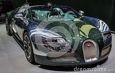 83rd Geneva Motorshow 2013 - Bugatti Veyron Editorial Image