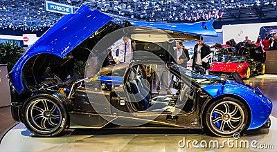83rd Geneva Motorshow 2013 - Pagani Huayra Editorial Stock Image