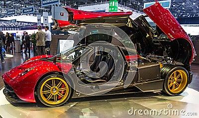 83rd Geneva Motorshow 2013 - Pagani Huayra Editorial Photography