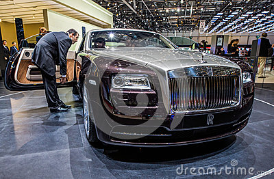 83rd Geneva Motorshow 2013 - Rolls Royce Wraith Editorial Photo