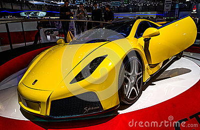83rd Geneva Motorshow 2013 - Spania GTA Spano Editorial Photography