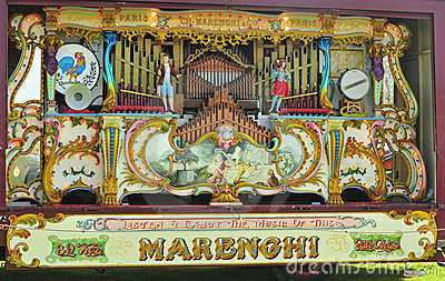 89 key Marenghi fairground organ Editorial Photography