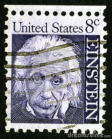 8c einstein γραμματόσημο ΗΠΑ