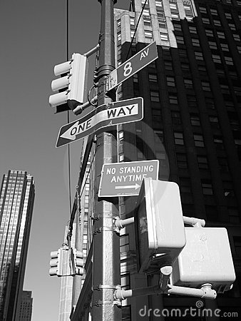 8th avenue street signs nyc