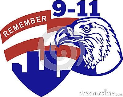 9-11 American bald eagle