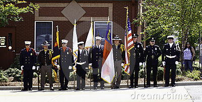 9 11 Ceremony Honor Guard with Colors Editorial Photography