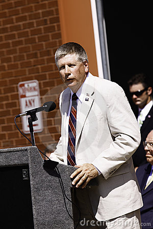 9 11 Ceremony Speaker Congressman Larry Kissel Editorial Photography