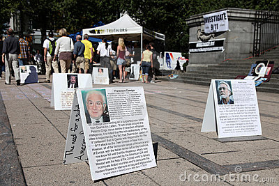 9/11 Demonstration,  Canada (September 11th 2009) Editorial Stock Photo