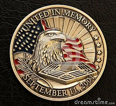 9/11 Memorial Coin Editorial Photo