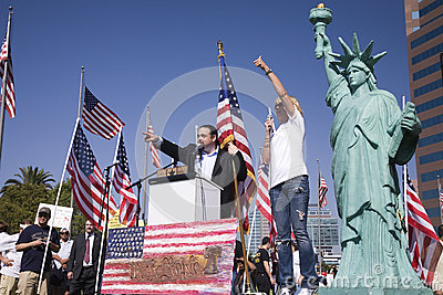 9-12 Rally and Tea Party Editorial Stock Photo