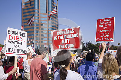 9-12 Rally and Tea Party Editorial Stock Image