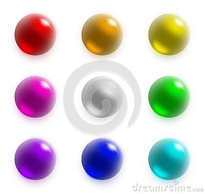 Free 9 Balls - Rainbow Set Stock Photography - 25565342
