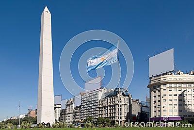 9 de Julio Avenue and The Obelisk, Buenos Aires