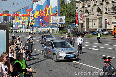 9 of Mai 2010. Victory parade Editorial Stock Image