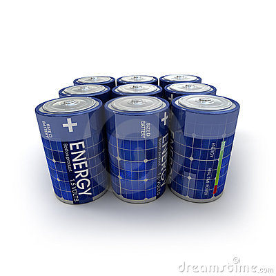 9 solar batteries
