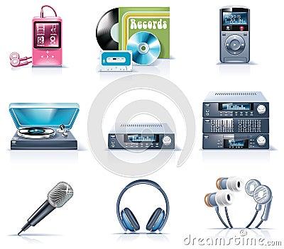 9 urządzeń gospodarstwa domowego ikon część wektor