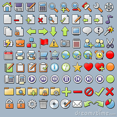90 Various Internet and Application Icons