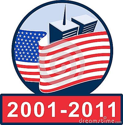 911 american flag memorial