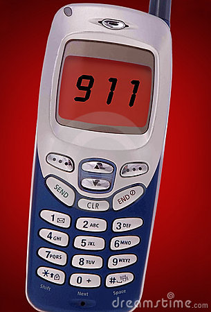 Free 911 Call On Cell Phone Royalty Free Stock Photo - 13129835