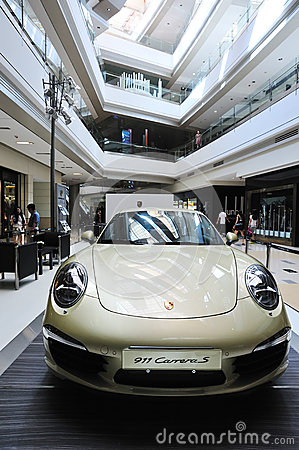 911 carreras show in shopping mall Editorial Stock Photo