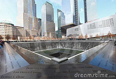 911 Memorial fountain Editorial Photo