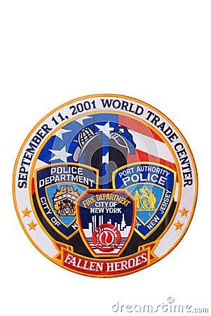 911 odizolowywający łaty uznanie Obraz Stock Editorial