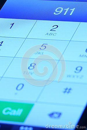 Free 911 On The Mobile Phone Royalty Free Stock Photos - 31305758