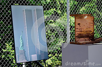 911 photo and beam from the trade center Editorial Photo