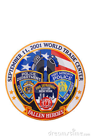 911 Tribute Patch (isolated) Editorial Stock Image