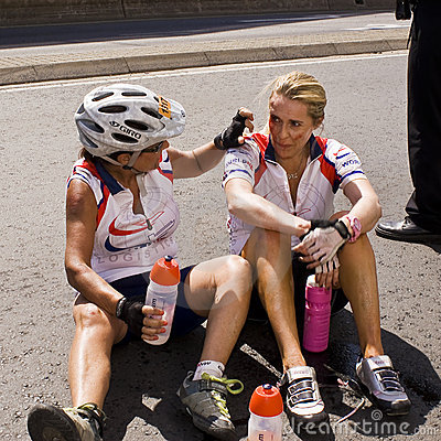 Editorial Image: 94.7 Cycle Challenge - Injured Cyclist