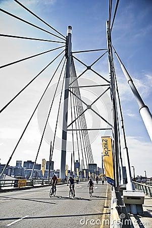94.7 Cycle Challenge - Mandela Bridge Section Editorial Stock Image