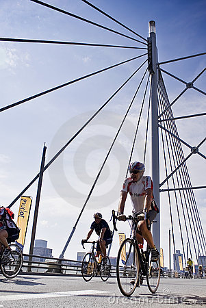 94.7 Cycle Challenge Riders On Mandela Bridge Editorial Stock Photo