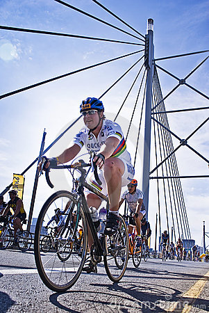94.7 Cycle Challenge - Riders On Mandela Bridge Editorial Image