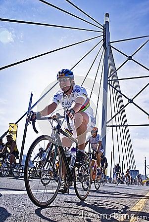 94.7 Cycle Challenge - Riders On Mandela Bridge Editorial Image