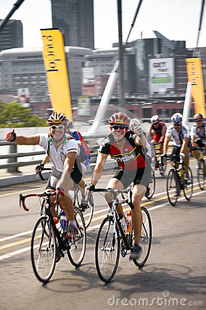 94.7 Cycle Challenge - Riders On Mandela Bridge Editorial Photography