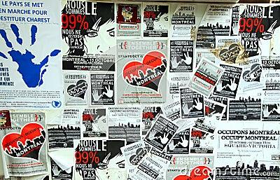 99  Occupy Movement Board Editorial Image