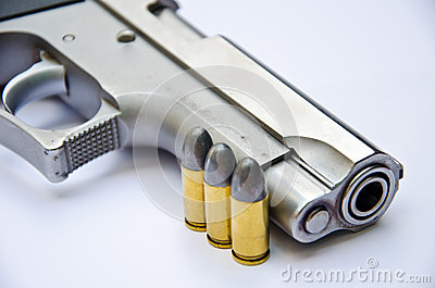 9mm. gun with bullet