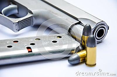 9mm. gun with bullet