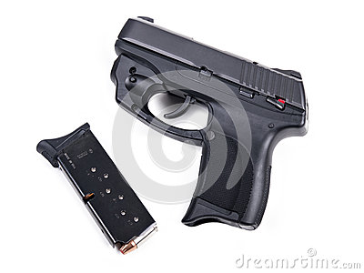 9mm Handgun & Magazine