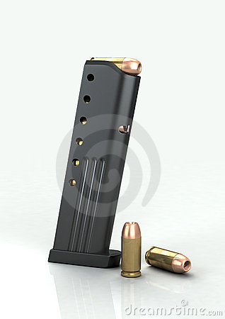 9mm magazine with bullets