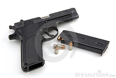 9mm pistol and ammo