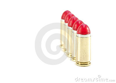 9mm Shock rounds / bullets lined up
