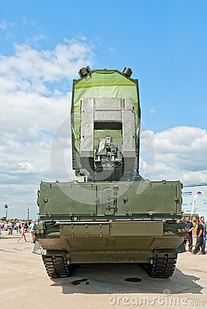 9S19 Imbir radar vehicle Editorial Photo