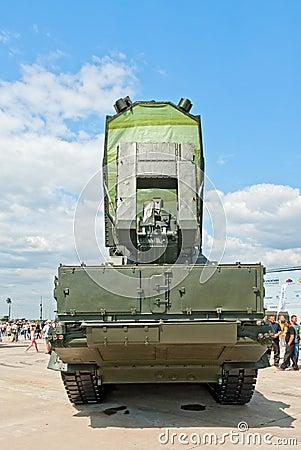 9S19 Imbir radar vehicle Editorial Photo