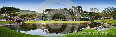 9th Hole - Panoramic View of the Green Editorial Stock Photo