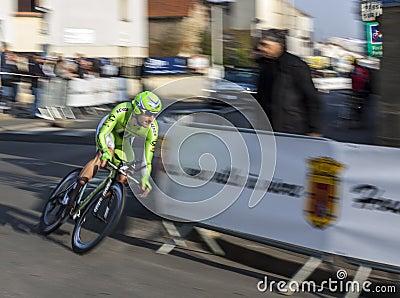 Ação agradável da raça de ciclagem de Paris Foto Editorial