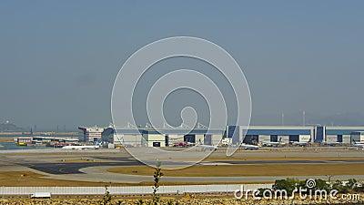 Aéroport de Chek Lap Kok, timelape banque de vidéos