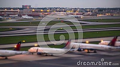 Aéroport de laps de temps d'avion