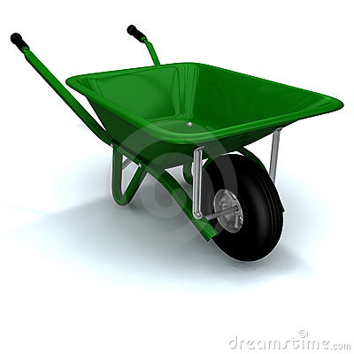 Free A 3D Render Of A Wheelbarrow Stock Photos - 1792883