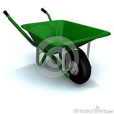 Free A 3D Render Of A Wheelbarrow Stock Photos - 1792883